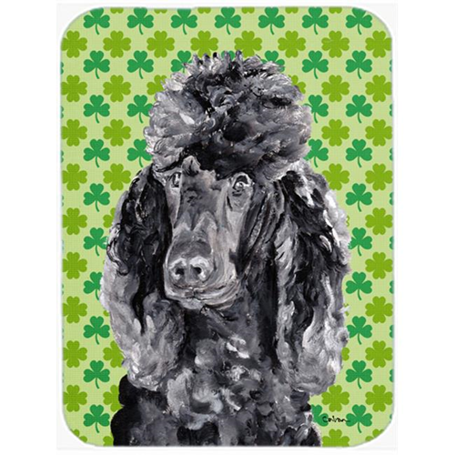 Carolines Treasures SC9722MP Black Standard Poodle Lucky Shamrock St. Patricks Day Mouse Pad Hot Pad Or Trivet 7.75 x 9.25 In.