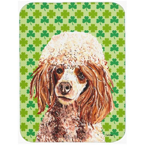 Carolines Treasures SC9723MP Red Miniature Poodle Lucky Shamrock St. Patricks Day Mouse Pad Hot Pad Or Trivet 7.75 x 9.25 In.