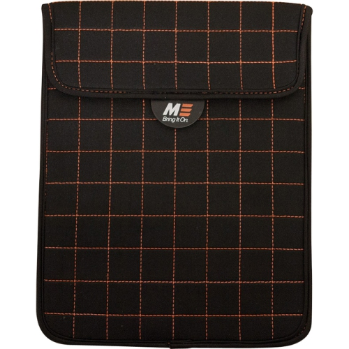 Mobile Edge MESST1100 NeoGrid Sleeve for iPad and 10 in. Tablets - Black-Orange Stitching