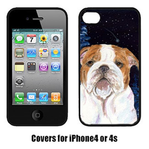 Carolines Treasures SS8447IP4 Starry Night Bulldog Cell Phone Cover Iphone 4