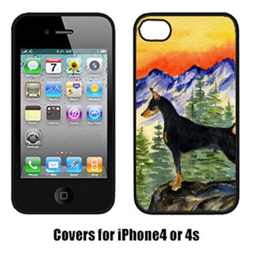 Carolines Treasures SS8284IP4 Doberman Cell Phone cover IPhone 4