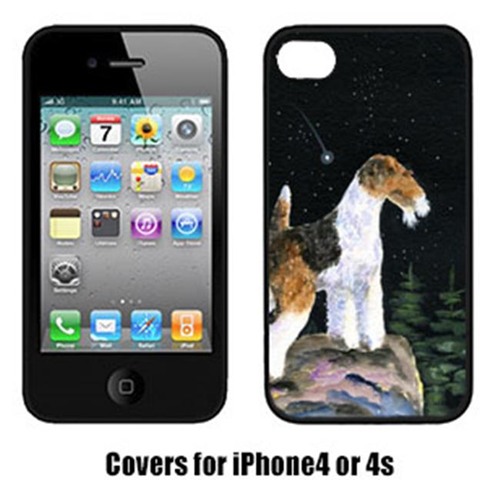 Carolines Treasures SS8500IP4 Starry Night Fox Terrier Iphone4 Cover