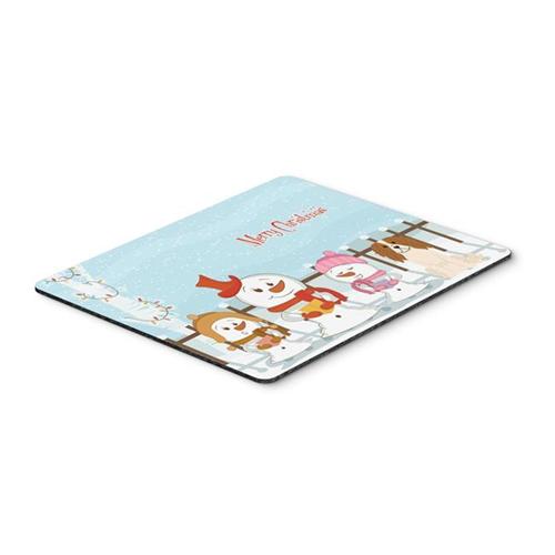 Carolines Treasures BB2389MP Merry Christmas Carolers Cavalier Spaniel Mouse Pad Hot Pad or Trivet