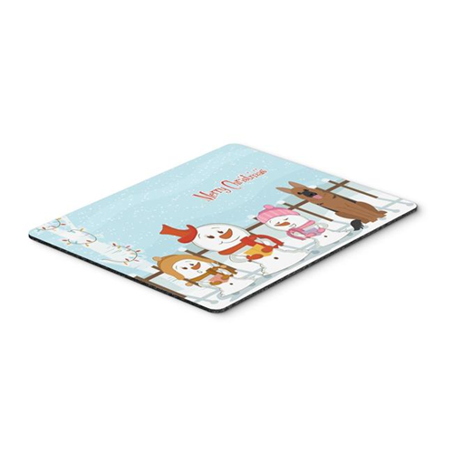 Carolines Treasures BB2398MP Merry Christmas Carolers German Shepherd Mouse Pad Hot Pad or Trivet