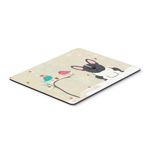 Carolines Treasures BB2484MP Christmas Presents Between Friends French Bulldog Black & White Mouse Pad Hot Pad or Trivet