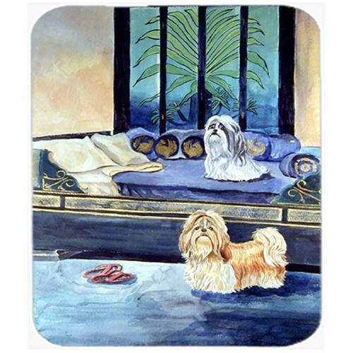 Carolines Treasures 7082MP 9.5 x 8 in. Shih Tzu Tan and Silver Mouse Pad Hot Pad or Trivet