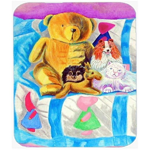 Carolines Treasures 7102MP 9.5 x 8 in. Party Poms on the Couch Pomeranian Mouse Pad Hot Pad or Trivet