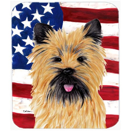 Carolines Treasures SC9017MP Usa American Flag With Cairn Terrier Mouse Pad Hot Pad Or Trivet
