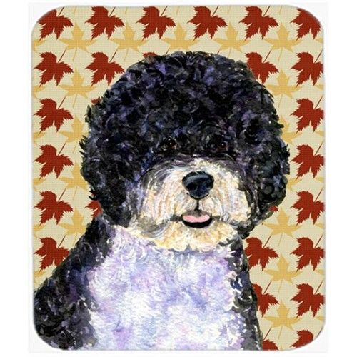 Carolines Treasures SS4366MP Portuguese Water Dog Fall Leaves Portrait Mouse Pad Hot Pad Or Trivet