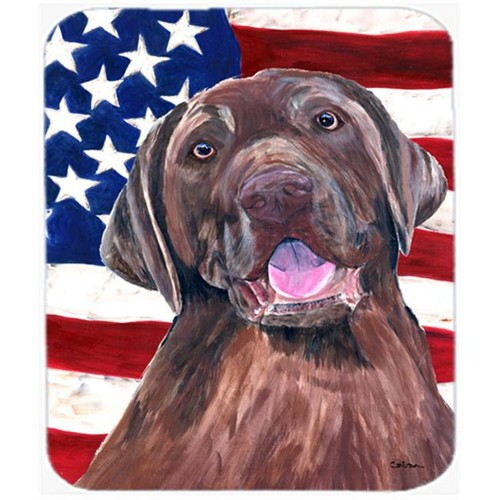 Carolines Treasures SC9029MP Usa American Flag With Labrador Mouse Pad Hot Pad Or Trivet