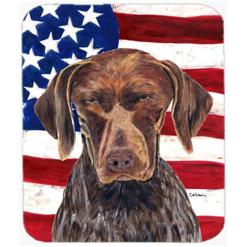 Carolines Treasures SC9034MP Usa American Flag With German Shorthaired Pointer Mouse Pad Hot Pad Or Trivet