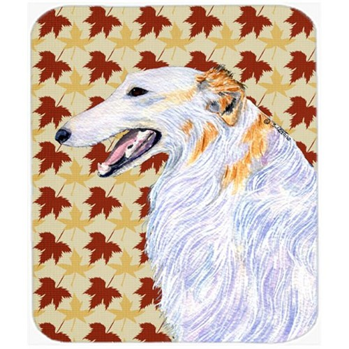 Carolines Treasures SS4381MP Borzoi Fall Leaves Portrait Mouse Pad Hot Pad Or Trivet