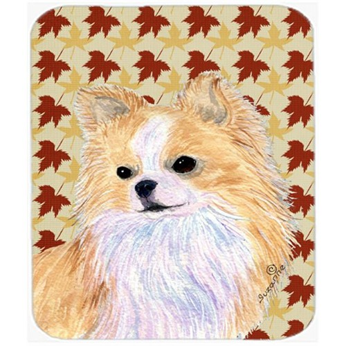 Carolines Treasures SS4383MP Chihuahua Fall Leaves Portrait Mouse Pad Hot Pad Or Trivet