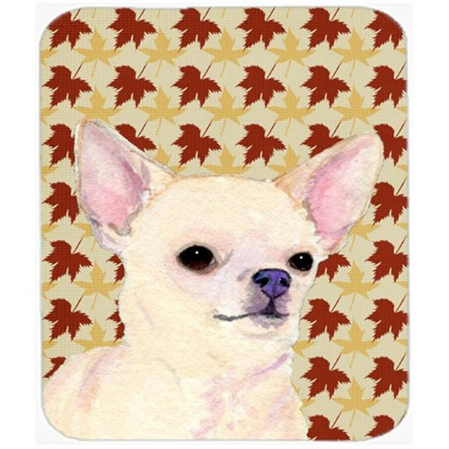 Carolines Treasures SS4384MP Chihuahua Fall Leaves Portrait Mouse Pad Hot Pad Or Trivet