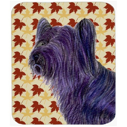 Carolines Treasures SS4393MP Skye Terrier Fall Leaves Portrait Mouse Pad Hot Pad Or Trivet