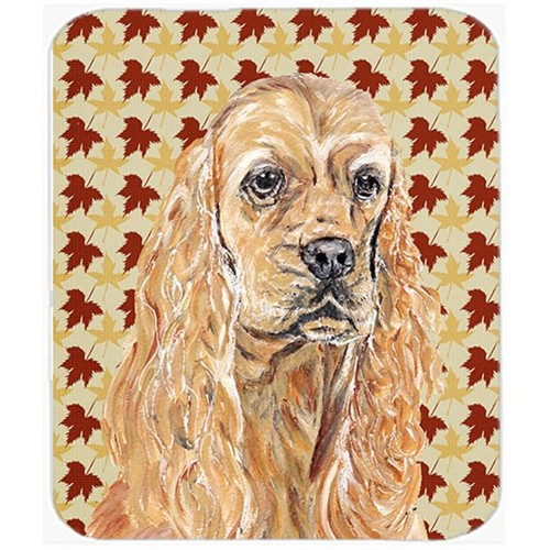 Carolines Treasures SC9542MP 7.75 x 9.25 In. Cocker Spaniel Fall Leaves Mouse Pad Hot Pad or Trivet
