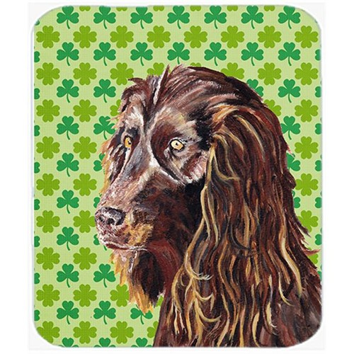 Carolines Treasures SC9574MP 7.75 x 9.25 in. Boykin Spaniel St Patricks Irish Mouse Pad Hot Pad or Trivet