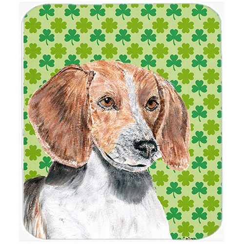 Carolines Treasures SC9579MP 7.75 x 9.25 in. English Foxhound St Patricks Irish Mouse Pad Hot Pad or Trivet