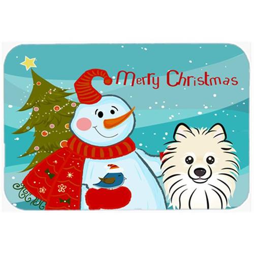Carolines Treasures BB1827MP Snowman With Pomeranian Mouse Pad Hot Pad & Trivet