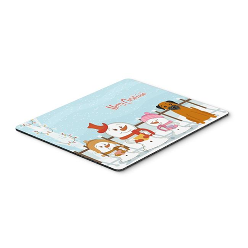 Carolines Treasures BB2370MP Merry Christmas Carolers Border Terrier Mouse Pad Hot Pad or Trivet