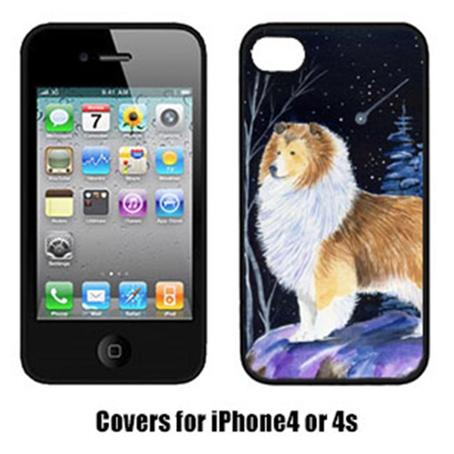 Carolines Treasures SS8368IP4 Starry Night Sheltie Cell Phone cover IPhone 4