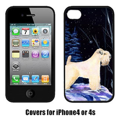 Carolines Treasures SS8386IP4 Starry Night Wheaten Terrier Soft Coated Cell Phone cover IPhone 4