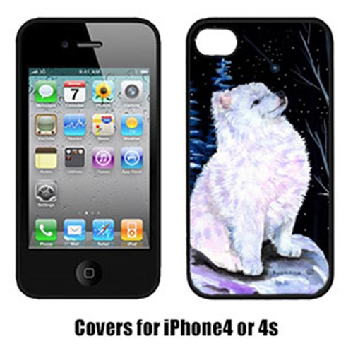 Carolines Treasures SS8389IP4 Starry Night American Eskimo Cell Phone cover IPhone 4