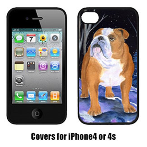 Carolines Treasures SS8405IP4 Starry Night Bulldog Cell Phone Cover Iphone4