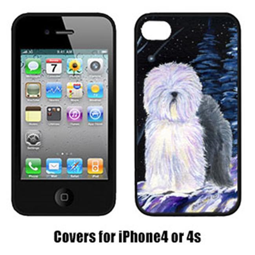 Carolines Treasures SS8406IP4 Starry Night Old English Sheepdog Cell Phone Cover Iphone4