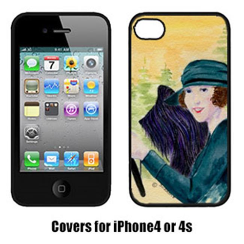 Carolines Treasures SS8549IP4 Lady Driving With Her Briard Iphone4 Cover