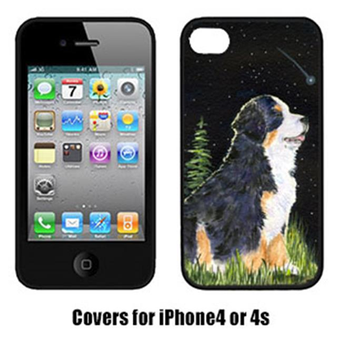 Carolines Treasures SS8468IP4 Starry Night Bernese Mountain Dog Cell Phone Cover Iphone 4