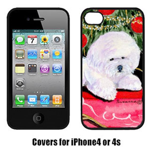 Carolines Treasures SS8957IP4 Christmas Tree With Bichon Frise Cell Phone Cover Iphone4