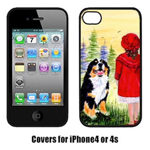 Carolines Treasures SS8531IP4 Little Girl With Her Bernese Mountain Dog Iphone4 Cover