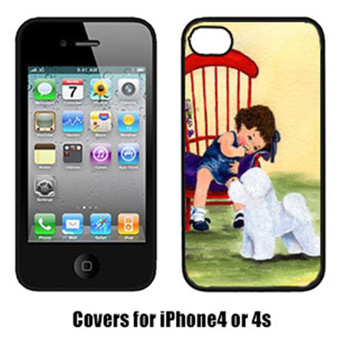 Carolines Treasures SS8533IP4 Little Girl With Her Bichon Frise Iphone4 Cover