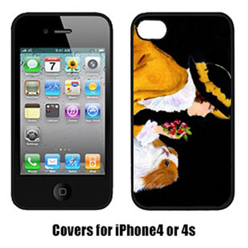Carolines Treasures SS8540IP4 Lady With Her Japanese Chin Iphone4 Cover