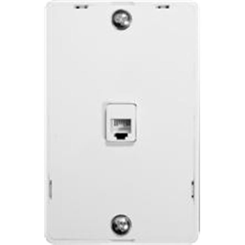 Morris Products 80031 Plastic Wall Phone Plate White