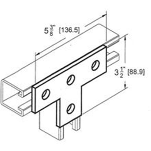 Morris Products 17636 4 Hole Tee Plate
