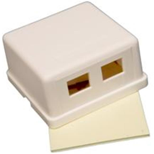 Morris Products 88258 Double Gang Surface Mount Box White