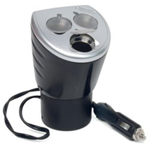 RoadPro RP492 4-In-1 12-Volt Power Outlet with Three 12-Volt Sockets and 1 USB Port