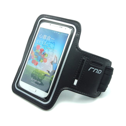 RND Accessories Slim-Fit Active Sports Armband Case For iPhone & Samsung Galaxy S4 S5 S6 - Black
