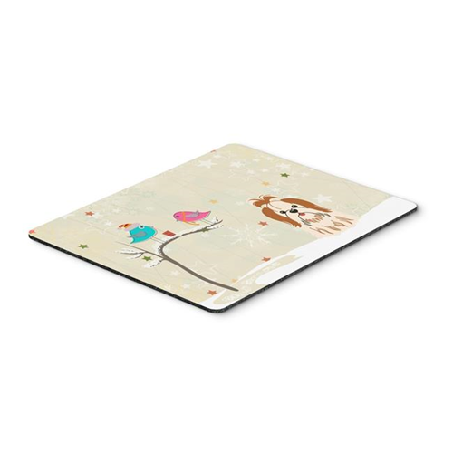 Carolines Treasures BB2559MP Christmas Presents Between Friends Shih Tzu Red & White Mouse Pad Hot Pad or Trivet