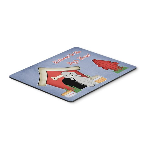 Carolines Treasures BB2844MP Dog House Collection Bedlington Terrier Blue Mouse Pad Hot Pad or Trivet