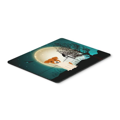 Carolines Treasures BB2298MP Halloween Scary Jack Russell Terrier Mouse Pad Hot Pad or Trivet