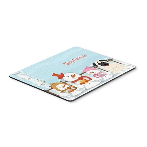 Carolines Treasures BB2335MP Merry Christmas Carolers Pug Cream Mouse Pad Hot Pad or Trivet
