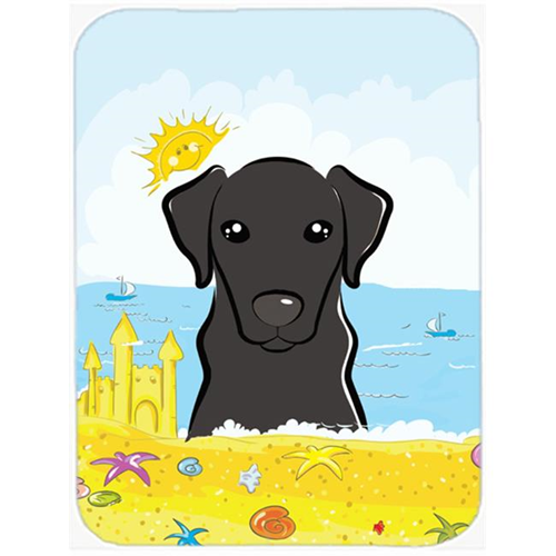 Carolines Treasures BB2103MP Black Labrador Summer Beach Mouse Pad Hot Pad or Trivet