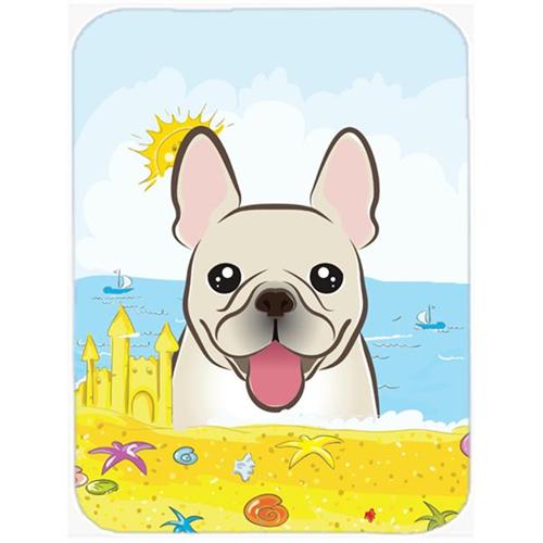 Carolines Treasures BB2106MP French Bulldog Summer Beach Mouse Pad Hot Pad or Trivet
