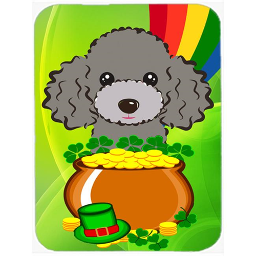 Carolines Treasures BB2003MP Silver Gray Poodle St. Patricks Day Mouse Pad Hot Pad or Trivet