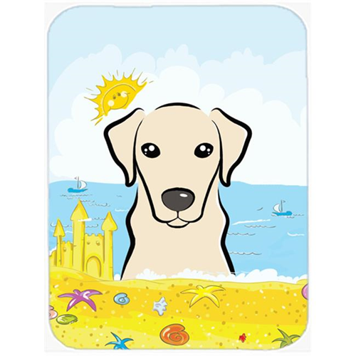 Carolines Treasures BB2090MP Yellow Labrador Summer Beach Mouse Pad Hot Pad or Trivet