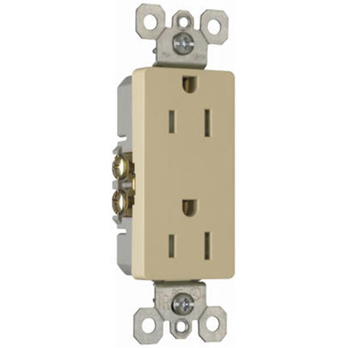 Pass & Seymour 885TRICP5 15AIvory Trademaster Tamper-Resistant Decorator Outlet 10 Pack