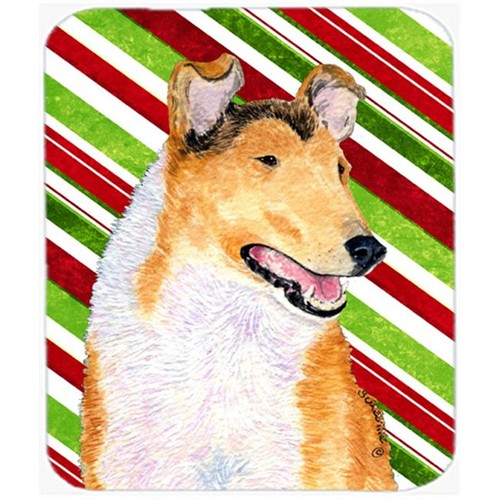 Carolines Treasures SS4539MP Collie Smooth Candy Cane Holiday Christmas Mouse Pad Hot Pad Or Trivet